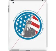 Memorial Day Greeting Card Soldier Military Serviceman Holding Rifle iPad Case/Skin