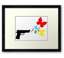 Butterfly Gun Color T Shirt Framed Print