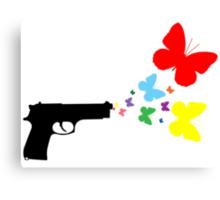 Butterfly Gun Color T Shirt Canvas Print