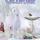 Elegant Equine Calendar Horses And Unicorns Fantasy Art by Moonlake