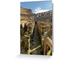 Hypogeum of the Colosseo Greeting Card
