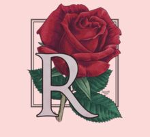 R is for Rose - patch Kids Tee