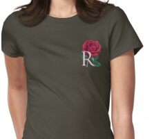 R is for Rose - patch Womens Fitted T-Shirt