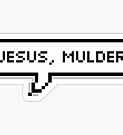 Jesus, Mulder Sticker