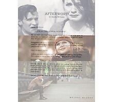 Afterword By Amelia Williams Photographic Print
