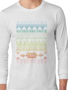Native American Geometric Pattern Long Sleeve T-Shirt