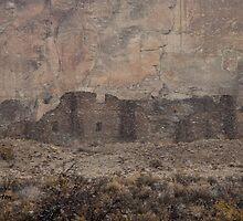 Chaco Canyon Snowstorm by Kim Barton