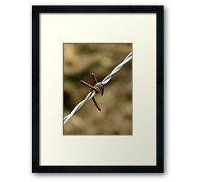Sign of a metalhead..\m/..barbed wire looks like the sign for metal..☺☺☺☺ Framed Print