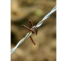 Sign of a metalhead..\m/..barbed wire looks like the sign for metal..☺☺☺☺ Photographic Print