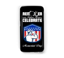 Memorial Day Greeting Card American Soldier Saluting Flag Samsung Galaxy Case/Skin