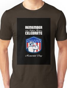 Memorial Day Greeting Card American Soldier Saluting Flag Unisex T-Shirt
