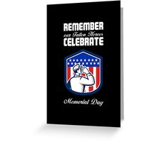 Memorial Day Greeting Card American Soldier Saluting Flag Greeting Card