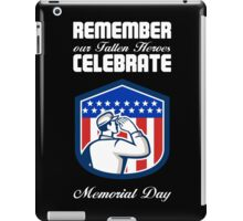 Memorial Day Greeting Card American Soldier Saluting Flag iPad Case/Skin