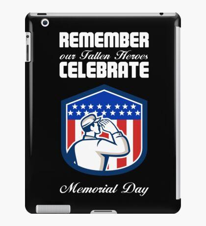 Memorial Day Greeting Card American Soldier Saluting Flag iPad Case/Skin