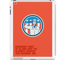 Memorial Day Greeting Card American Soldier Salute Circle iPad Case/Skin