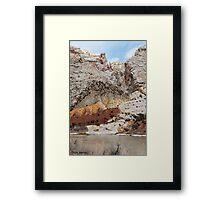 Split Mountain Zigzags Framed Print