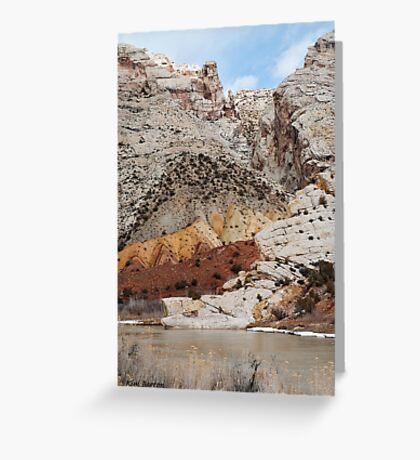 Split Mountain Zigzags Greeting Card