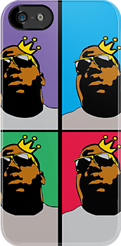 NOTORIOUS B.I.G. (4-COLOR) iPHONE | iPAD CASE by SOL  SKETCHES™