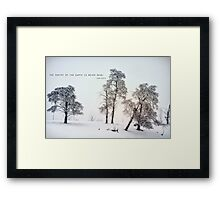 The Poetry of The Earth Framed Print