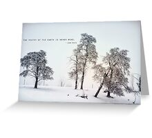 The Poetry of The Earth Greeting Card