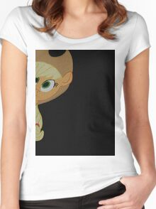 Applejack is curious. Women's Fitted Scoop T-Shirt
