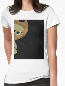 Applejack is curious. Womens Fitted T-Shirt