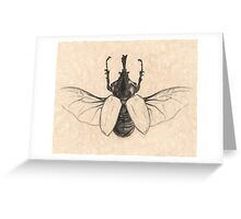 Scarab Rhinoceros Beetle Greeting Card