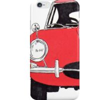 Jaguar E-Type (Red) iPhone Case/Skin