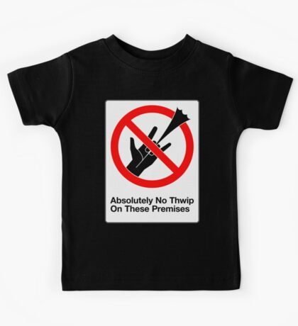 Absolutely No Thwip Kids Tee