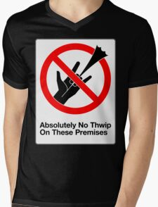 Absolutely No Thwip Mens V-Neck T-Shirt