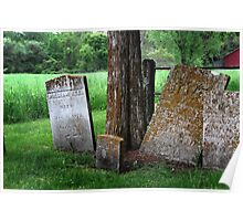Old Graves in Connecticut Poster