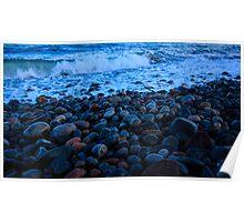 Rocks & Waves Poster