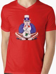 Uncle Sam Shush Mens V-Neck T-Shirt