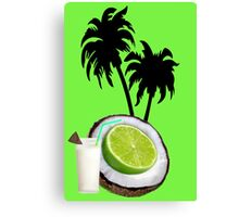 (….◕¸¸◕….)  U PUT THE LIME IN THE COCONUT PICTURE/CARD (….◕¸¸◕….) . Canvas Print