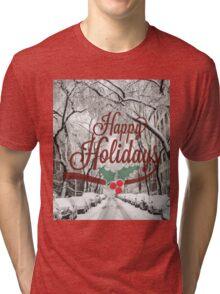 Happy Holidays Card Tri-blend T-Shirt