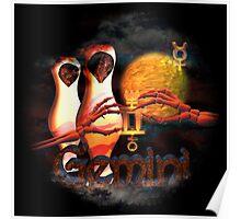 Gemini gothic zodiac astrology by Valxart Poster