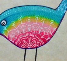 Rainbow birdie Sticker