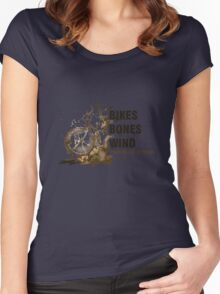 Bikes, Bones and Wind  Women's Fitted Scoop T-Shirt