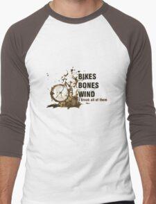 Bikes, Bones and Wind  Men's Baseball ¾ T-Shirt
