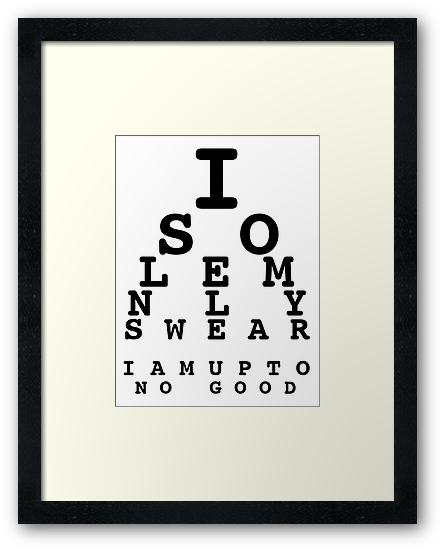 Marauders' Eye Chart by xDominoe