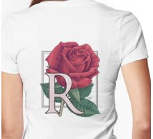 R is for Rose Womens Fitted T-Shirt