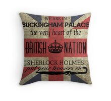 Listen to Mycroft Throw Pillow