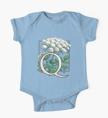 Q is for Queen Anne's Lace  One Piece - Short Sleeve