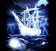 """High-Voltage Ghost Ship"" by BryanLanier"