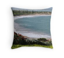 Enhanced with Red, 'Horseshoe Bay' Port Elliott, Sth. Australia. Throw Pillow