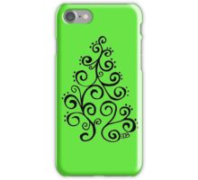 Swirling Christmas Tree iPhone Case/Skin