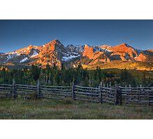 Mt Sneffels and the Dallas Divide Sunrise Near the Stock Pen Photographic Print