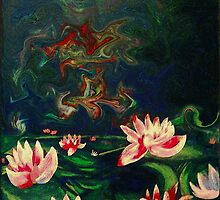 """Lotus Patch at Sunset""  by Kevin J Cooper"