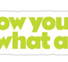Pee Wee - I know you are, but what am I? Sticker