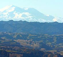 """ Mount Ruapehu , New Zealand "" by Rosehaven"